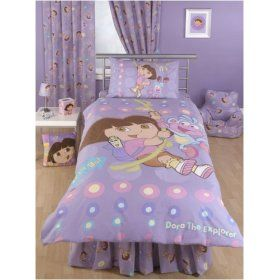 Dora the explorer bedroom theme duvet curtains bedding for Dora themed bedroom designs