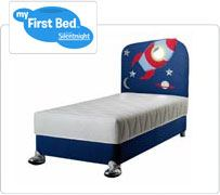 Silentnight my first bed childrens rocket bed for Childrens rocket bed