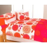 Bright orange duvet cover