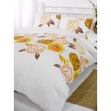 Misha orange soft touch printed duvet cover