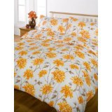 Sumi orange soft touch duvet cover sets