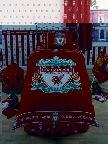Liverpool Duvet Set Fc Official Double With Pillowcase
